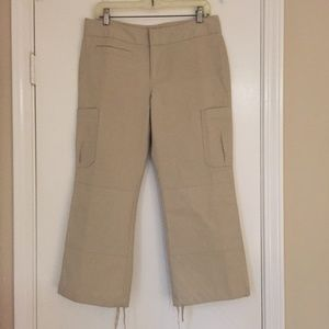 Banana Republic cropped beige pants
